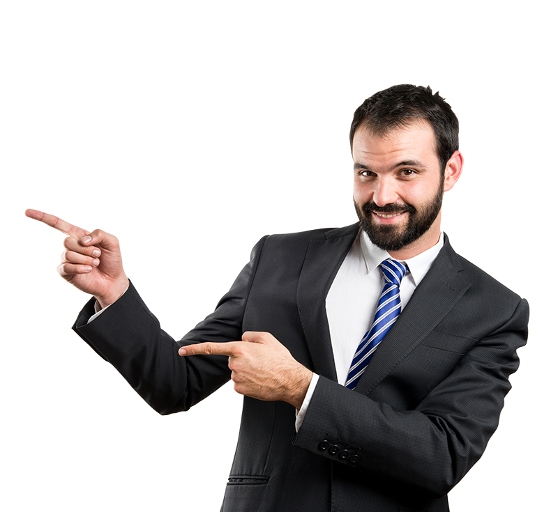 Businessman pointing photo